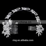 New Hair Comb Wedding Bridal Metal Alloy Crystal Plated Butterfly Long Crystal Tassel Hair Comb
