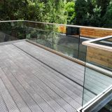 Frameless glass railing with U channel