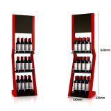 Customized promotional fancy metal wine floor display stand/ dumpbin/ standee