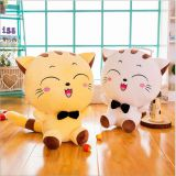 Wholesale valentine's day gift big size big face cat plush toy