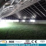 China made fantastic PVC coated polyester curve sports swimming pool tent for green house