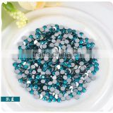 SS16 Hotfix Iron Peacock Blue 4mm Flat Back Rhinestone Yiwu Factory Cheap Price