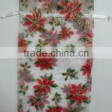 Can be Designed by Yourself 6*10cm Red Floral Printed Transparent Bag wrapping gifts and packing candy