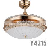 Indoor Outdoor 4 ABS Hidden Blades Copper Motor Ceiling Fans With Lights                                                                         Quality Choice