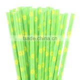 Lovely Daisy Paper Drinking Straws for wedding baby shower