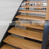 natural unfinished white oak solid wood stair tread