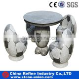 Patio Stone Tables and Benches, outdoor tables and chairs, Ball Shaped Stone Tables and Beches