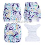 ananbaby reusable one size baby nautical prints cloth diapers                                                                                                         Supplier's Choice