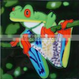 Home decor glazed ceramic frogs hand painted ceramic tiles