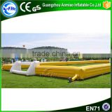 Hot sale Yellow Inflatable Football Arena For Outdoor Game