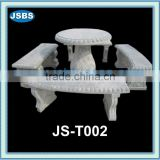 China modern outdoor stone tables and benches