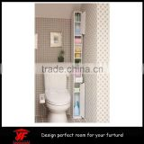 Chinese Space Saving Bathroom Furniture Wall Rack Storage Cabinet