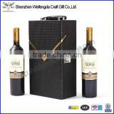 New Design competitive price bottle wine leather