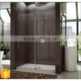 Supply To Europe supermarket High Quality Stainless Steel Round Free Standing Glass Shower Enclosure