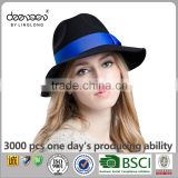 Custom Wide Brim Wool Felt Hat Wholesale Women Men Fedora Hat