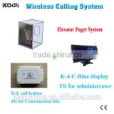 remote control elevator call buttons system for construction site for elevator emergency call bell KOQI CE passed