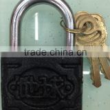 black Cast iron padlock