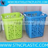 Doted Large Plastic Lace Laundry Basket Washing Clothes Storage organizer basket Hamper Bin