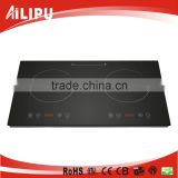3500W Sensor Touch Controll Double Induction Cooker, Induction Cooktop with A Grade Black Crystal Glass