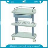 AG-LPT004A Nurse workstation plastic utility medical trolley prices