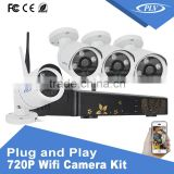 CMS IE Mobile Phone remote control 720P outdoor home security camera cctv system wireless camera kit