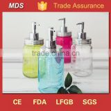 Mason jar glass soap dispenser bottle liquid foam pump                                                                                                         Supplier's Choice