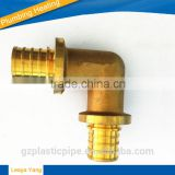 PEX Brass fitting/PEX Pipes/PEX Tubes/ PEX copper fittings/1/2 inch lead free compression coupler threaded brass pex elbow pipe
