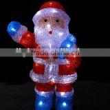 hot sales snowman decartation light /3d LED christmas acrylic santa claus motif lamp light