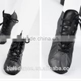 Dttrol black lace up dancing men leather boots of the women boots shoes D011003