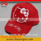 China factory wholesale fashion winter hat for young girls helloKitty baby caps and hats