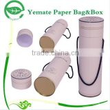 high quality printed round tube shaped paper cardboard nail polish package box with carry handle