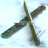 OEM emery board nail file and buffer-direct manufacturer. various beauty design nail file and buffer with glitter