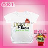 Cixi new arrival fashionable cute wholesale black and white tshirts