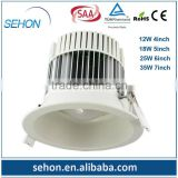 hot products 2014 cob led downlight 5 inch 18w epistar cut out size 126mm down led lights for home alibaba express