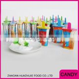 Mix Flavor Ice Cream with Sour Powder Lollipop Candy