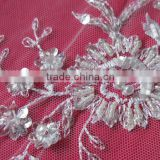 Beaded Embroidery Lace Fabric