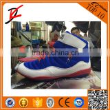 American wrestling shoes red and blue color fitness shoes game champion bodybuilding shoes white                                                                         Quality Choice