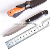 Nordic Bush Fixed Blade Knife / Hunting Knife with Black or Orange G10 Handle