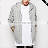 fashion hooded cardigan men with buttons longline hoodies & sweatshirts                                                                         Quality Choice