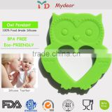 2016 Exquisite Christmas gift Excellent quality antique silicone pendant teether wholesale