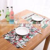 placemat pretty flower plastic table mat for cute girl /kids pp disposable placemats baby