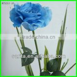 factory price artificial real touch rose with blue colors