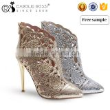 CR190 gold and silver high heel girl party sex sandal pic woman sandal
