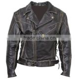 latest style black leather racing motorbike jackets ,USA Men's Leather motorbike fashion Jackets