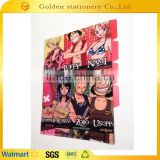 ONE PIECE figures A4 L shape clear file folders with index tabs                                                                         Quality Choice