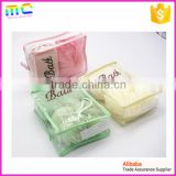 a set of colorful plastic mesh bath sponge and bath ball with beautiful package can as gift                                                                         Quality Choice