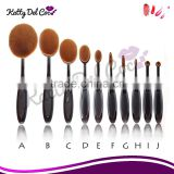 Cosmetic Makeup Tools Women Face Powder Foundation Eye Shadow Blusher Soft Toothbrush Shape makeup Brushes