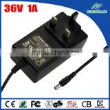 36V 1A power supply 220V 36V DC adapter for electric bike
