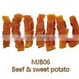 beef & sweet potato for dog pet treats pet food healthy free addivites super premium quality dog treat