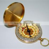 Classic Brass Pocket Watch Style Compasses Aluminum Alloy Compass for Camping Hiking